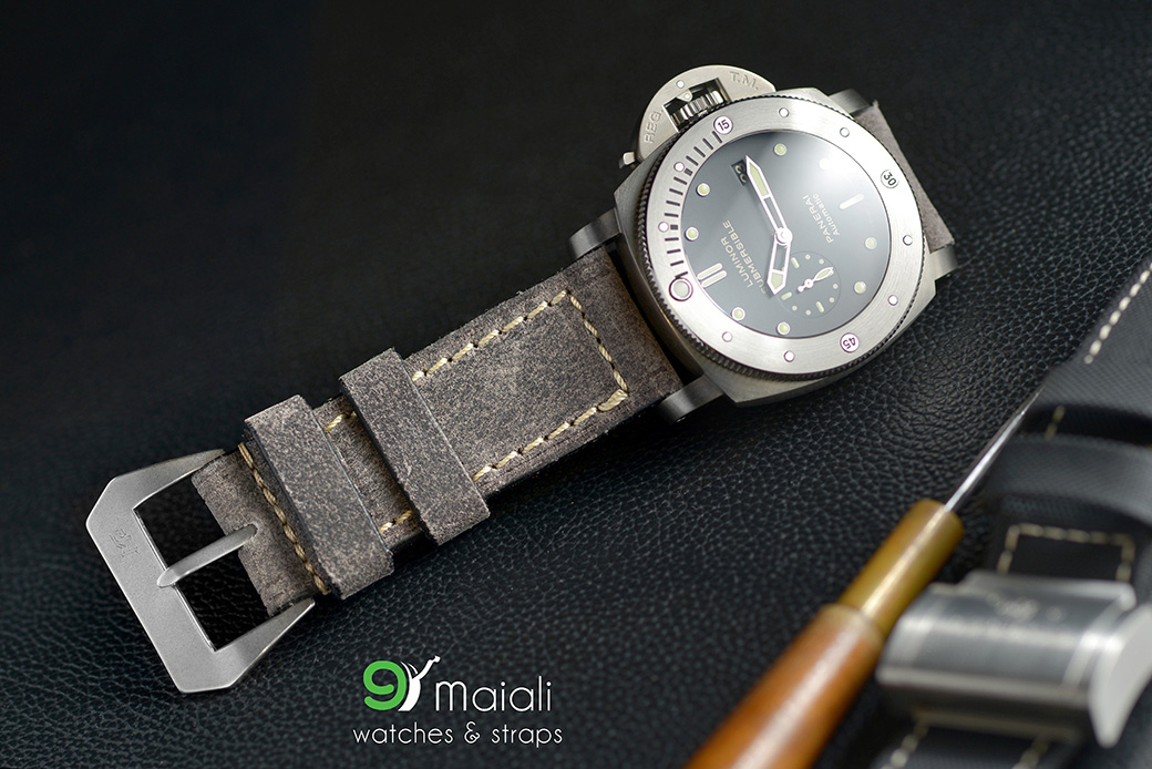 Mario Paci Distress Leather strap for panerai watch