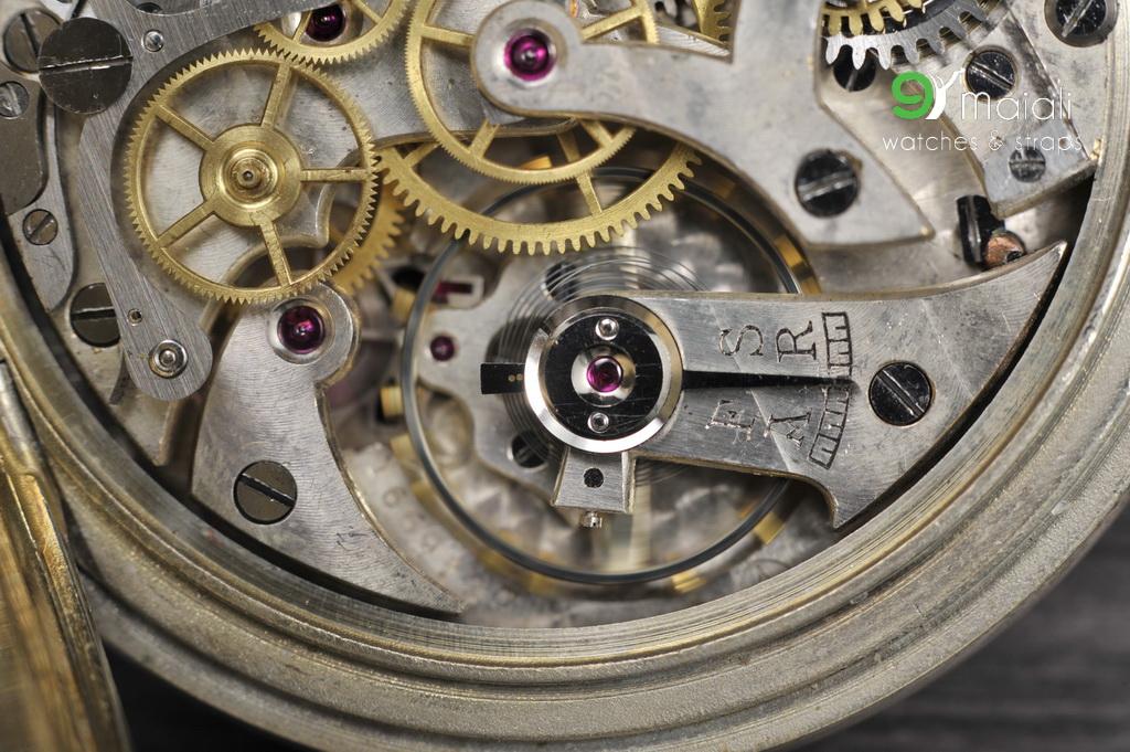 Vintage Minerva Pocket Watch: 1890's Antique Masonic