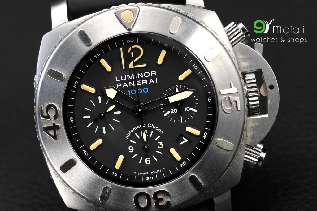 Panerai Pam 187 Luminor Submersible Chrono 1000m 1950 47mm