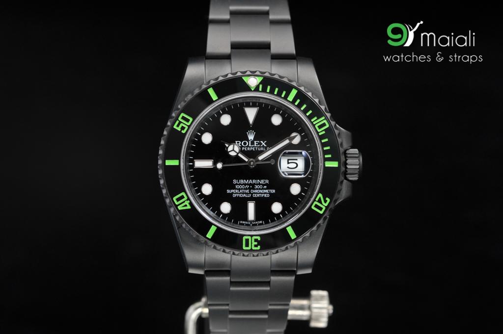 Rolex Submariner Green Dial Ceramic Bezel Ref 116610lv 40mm