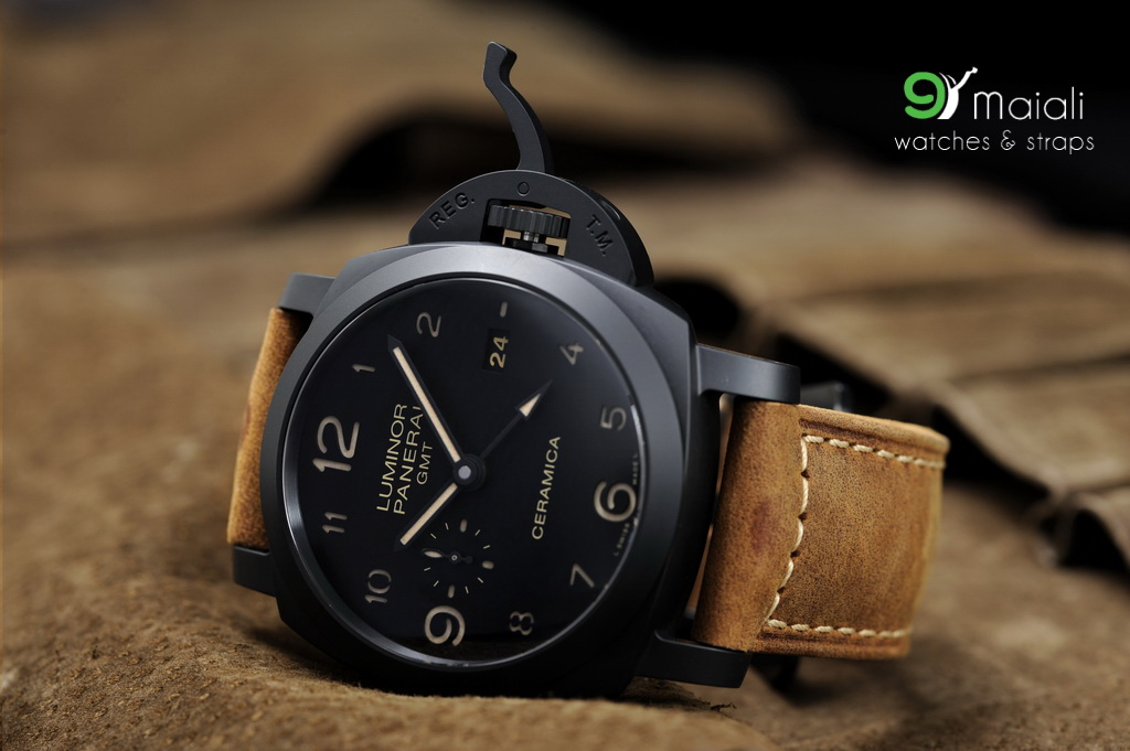 Panerai Pam 441 Luminor 3 Days Gmt Black Ceramic 1950 44mm